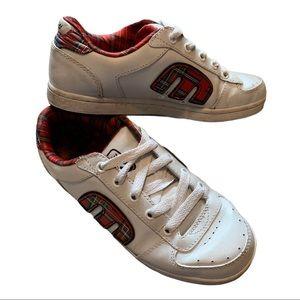 ETNIES white leather skate sneaker 7
